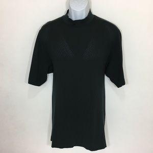Nike Tiger Woods Golf Shirt Polo L Mens Mock Black